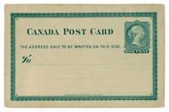 Hamilton, Ontario, Canada - 25 février 1878 : Carte postale historique canadienne masquée avec le cadre modelé vert, imprimé l'un photo stock