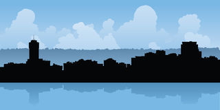 Hamilton, Ontario Skyline. Skyline silhouette of the city of Hamilton, Ontario, Canada Stock Photos