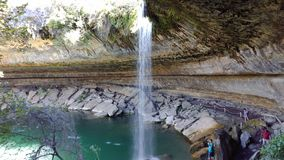 Hamilton pool reserve. Waterfall at hamilton pool reserve Stock Image