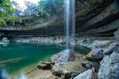 Hamilton Pool Waterfall dans Austin, le Texas photographie stock