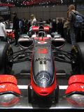 Hamilton's McLaren in Geneva Stock Photo