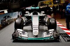 Hamilton's Mercedes at Geneva Autoexpo 2016 Stock Photos