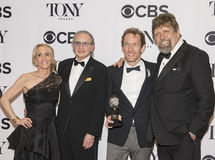 Hamilton's Producers Glow at 70th Tony Awards. Jill Furman, Sander Jacobs, Jeffrey Seller, and Oscar Eustis are the delighted producers of Hamilton, the night's Royalty Free Stock Images