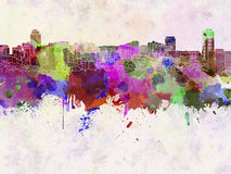 Hamilton skyline in watercolor Stock Photography