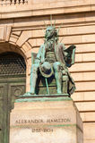 Hamilton-Statue Stockfoto
