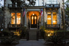 Hamilton-Turner Inn, savana, GA imagens de stock royalty free