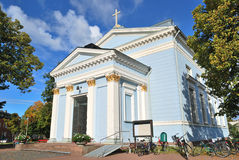 Hamina, Finland.  Lutheran church Stock Photography