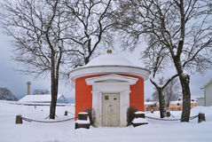 Hamina, Finland. Small Orthodox chapel Royalty Free Stock Photo