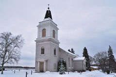 Hamina, Finland. St. Mary  church Stock Photography