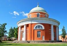 Hamina, Finland. Unieke ronde kerk royalty-vrije stock foto