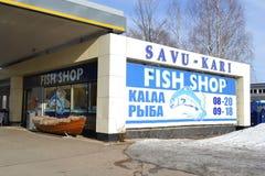 Loja dos peixes em Hamina foto de stock