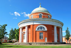 Hamina, Finlandia. Iglesia redonda única Foto de archivo libre de regalías