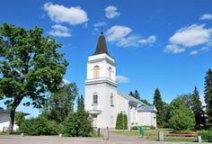 Hamina, Finlandia. Igreja Vehkalahti, século 14 foto de stock royalty free