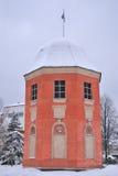 Hamina, Finnland. Flaggen-Kontrollturm Stockfotografie