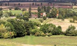 Hamlet av lilla Wittenham i Oxfordshire Arkivbilder
