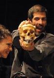 Hamlet. BERLIN - MAY 30, 2006: scene of a theater production Ensaio.Hamlet by the Cia. dos Atores, Rio de Janeiro, Brasil, festival Brasil em Cena, Hebbel stock photos