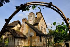The Hamlet in Chateau de Versailles. The Hamlet (Le Hameau) of Petit Trianon in Chateau de Versailles, Paris Royalty Free Stock Photography
