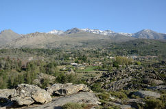 Hamlet in the Corsican mountains Stock Photos