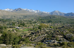 Hamlet in the Corsican mountains Stock Image