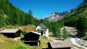 The hamlet of Kühmad with pilgrimage church, Switzerland