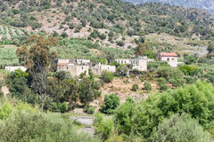 The hamlet Laloumas in the foothills of the IDA mountain range Royalty Free Stock Image