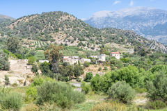 The hamlet Laloumas in the foothills of the IDA mountain range Royalty Free Stock Images