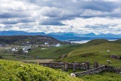 Hamlet of Lochinver, Scotland. Stock Photography