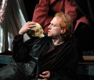 Hamlet. NOVEMBER 16, 2006 - BERLIN: Scott Shepherd at the theater play The Wooster Group - Hamlet, Hebbel Theater, Berlin stock image