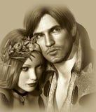 Hamlet and Ophelia Stock Photos