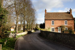 Hamlet in Rural England. Country Road through a Rural Hamlet in England Stock Images