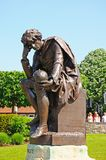 Hamlet statue, Stratford-upon-Avon. Statue of Hamlet at the Shakespeare memorial by Lord Ronald Gower in Bronze, Bancroft Gardens, Stratford-Upon-Avon Stock Photos
