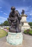Hamlet Statue. STRATFORD-UPON-AVON, UNITED KINGDOM - AUGUST 24: William Shakespeare and Hamlet statue in Straford-upon-Avon, United Kingdom on August 24, 2016 royalty free stock image