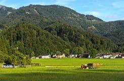 Hamlet Winkl perto de St Gilgen, Salzkammergut imagens de stock