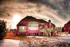 hamlet2 domy. Zdjęcie Royalty Free