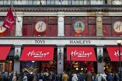 Hamleys玩具商店在伦敦 免版税库存照片