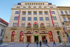 Attraction in Prague: famous Hamleys toys and games shop - Czech Republic Royalty Free Stock Images