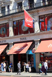 Hamleys toy store. London, UK - July 14, 2014 : Hamleys toy department store in Regent Street on a very busy shopping day Stock Photo