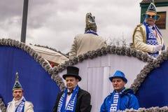HAMM, DEUTSCHLAND NOVEMBER 2017: Karneval, Rosenmontag der Tag vor dem traditionellen Ende der Karnevalsmeere lizenzfreies stockfoto