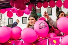 HAMM, DEUTSCHLAND NOVEMBER 2017: Karneval, Rosenmontag der Tag vor dem traditionellen Ende der Karnevalsmeere stockbilder