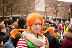 HAMM, GERMANY-NOVEMBER 2017: Carnival, Rosenmontag the day before the traditional end of the carnival seas. HAMM, GERMANY-NOVEMBER 2017: Carnival, Rosenmontag royalty free stock photography