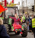HAMM, GERMANY-NOVEMBER 2017: Karnawał, Rosenmontag dzień przed tradycyjnej końcówce karnawałowi morza obraz stock