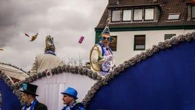 HAMM, GERMANY-NOVEMBER 2017: Karnawał, Rosenmontag dzień przed tradycyjnej końcówce karnawałowi morza zdjęcie stock