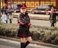 HAMM, GERMANY-NOVEMBER 2017: Karnawał, Rosenmontag dzień przed tradycyjnej końcówce karnawałowi morza zdjęcia stock