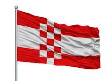 Hamm stadsflagga på flaggstången, Tyskland som isoleras på vit bakgrund stock illustrationer