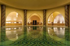 Hammam мечети Hassan II в Касабланка Марокко Стоковое Изображение RF