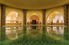 Hammam av den Hassan II moskén i Casablanca Marocko Royaltyfri Bild