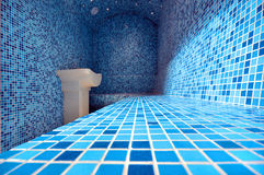 Hammam. Blue turkish steam bath hammam Royalty Free Stock Photography