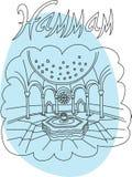 Hammam illustration Royalty Free Stock Image