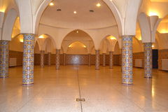 The hammam room undergound in Hassan II mosque in Casablanca. stock images
