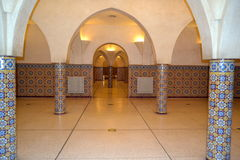 The hammam rooms undergound in Hassan II mosque in Casablanca. royalty free stock photo
